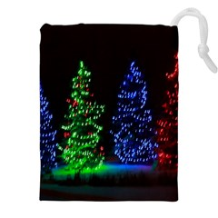 CHRISTMAS LIGHTS 1 Drawstring Pouches (XXL)