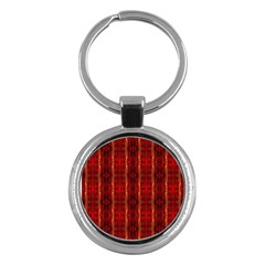 Red Gold, Old Oriental Pattern Key Chains (Round)