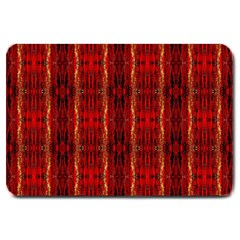 Red Gold, Old Oriental Pattern Large Doormat
