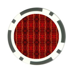 Red Gold, Old Oriental Pattern Poker Chip Card Guards