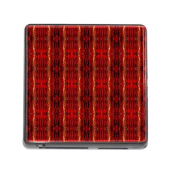 Red Gold, Old Oriental Pattern Memory Card Reader (Square)