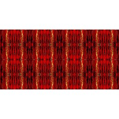 Red Gold, Old Oriental Pattern YOU ARE INVITED 3D Greeting Card (8x4)