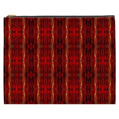 Red Gold, Old Oriental Pattern Cosmetic Bag (XXXL)
