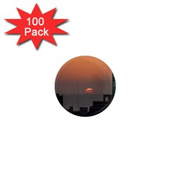 Aerial View Of Sunset At The River In Montevideo Uruguay 1  Mini Magnets (100 Pack)