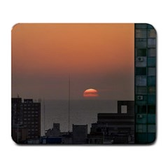 Aerial View Of Sunset At The River In Montevideo Uruguay Large Mousepads
