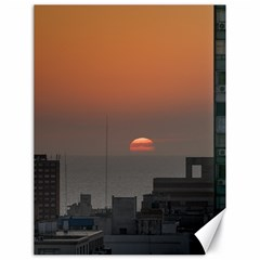 Aerial View Of Sunset At The River In Montevideo Uruguay Canvas 18  x 24