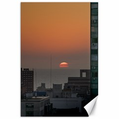 Aerial View Of Sunset At The River In Montevideo Uruguay Canvas 20  x 30
