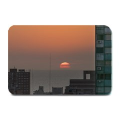 Aerial View Of Sunset At The River In Montevideo Uruguay Plate Mats