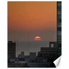 Aerial View Of Sunset At The River In Montevideo Uruguay Canvas 11  x 14