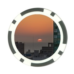 Aerial View Of Sunset At The River In Montevideo Uruguay Poker Chip Card Guards (10 pack)