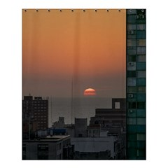 Aerial View Of Sunset At The River In Montevideo Uruguay Shower Curtain 60  x 72  (Medium)