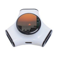 Aerial View Of Sunset At The River In Montevideo Uruguay 3-Port USB Hub