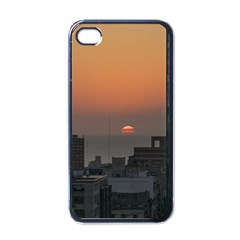Aerial View Of Sunset At The River In Montevideo Uruguay Apple iPhone 4 Case (Black)