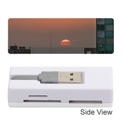 Aerial View Of Sunset At The River In Montevideo Uruguay Memory Card Reader (Stick)