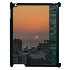 Aerial View Of Sunset At The River In Montevideo Uruguay Apple iPad 2 Case (Black)