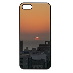 Aerial View Of Sunset At The River In Montevideo Uruguay Apple iPhone 5 Seamless Case (Black)