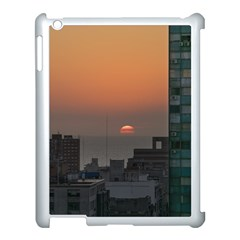 Aerial View Of Sunset At The River In Montevideo Uruguay Apple iPad 3/4 Case (White)