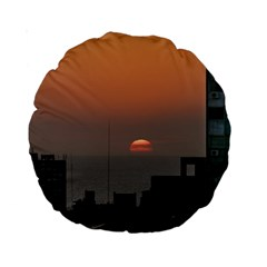 Aerial View Of Sunset At The River In Montevideo Uruguay Standard 15  Premium Round Cushions
