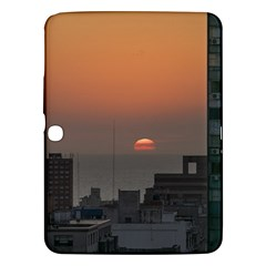 Aerial View Of Sunset At The River In Montevideo Uruguay Samsung Galaxy Tab 3 (10.1 ) P5200 Hardshell Case