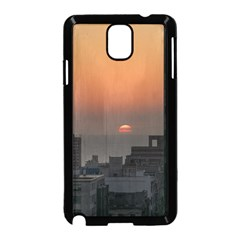 Aerial View Of Sunset At The River In Montevideo Uruguay Samsung Galaxy Note 3 Neo Hardshell Case (Black)