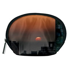 Aerial View Of Sunset At The River In Montevideo Uruguay Accessory Pouches (Medium)