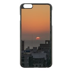 Aerial View Of Sunset At The River In Montevideo Uruguay Apple Iphone 6 Plus/6s Plus Black Enamel Case
