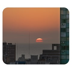 Aerial View Of Sunset At The River In Montevideo Uruguay Double Sided Flano Blanket (Small)