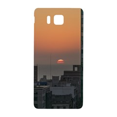 Aerial View Of Sunset At The River In Montevideo Uruguay Samsung Galaxy Alpha Hardshell Back Case