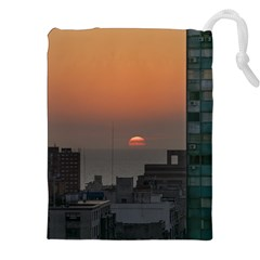 Aerial View Of Sunset At The River In Montevideo Uruguay Drawstring Pouches (XXL)