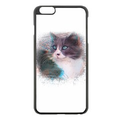 Cat Splash Png Apple Iphone 6 Plus/6s Plus Black Enamel Case