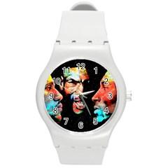 Image Round Plastic Sport Watch (M)