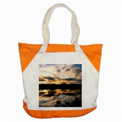 SUN REFLECTED ON LAKE Accent Tote Bag