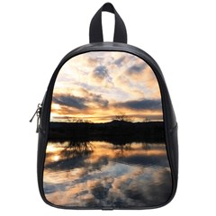 SUN REFLECTED ON LAKE School Bags (Small)