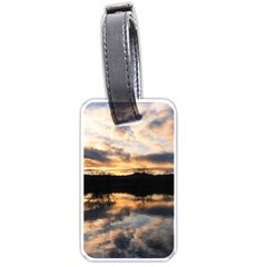 SUN REFLECTED ON LAKE Luggage Tags (Two Sides)