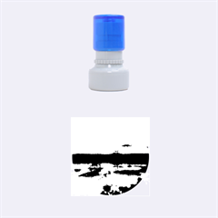Sun Reflected On Lake Rubber Round Stamps (small)