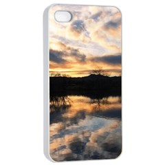 SUN REFLECTED ON LAKE Apple iPhone 4/4s Seamless Case (White)