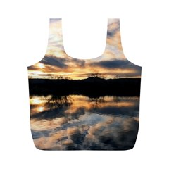 SUN REFLECTED ON LAKE Full Print Recycle Bags (M)