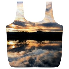 SUN REFLECTED ON LAKE Full Print Recycle Bags (L)