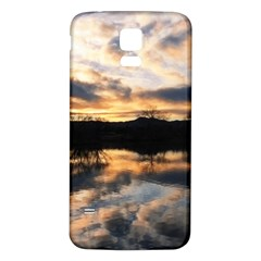 SUN REFLECTED ON LAKE Samsung Galaxy S5 Back Case (White)