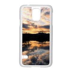 SUN REFLECTED ON LAKE Samsung Galaxy S5 Case (White)