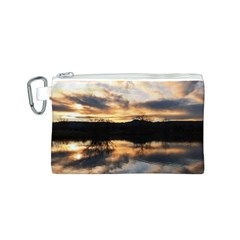 Sun Reflected On Lake Canvas Cosmetic Bag (s)