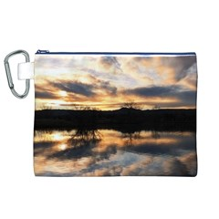 SUN REFLECTED ON LAKE Canvas Cosmetic Bag (XL)