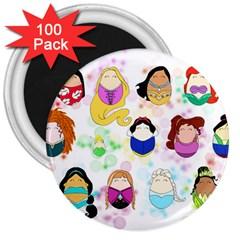 Disney Ladies 3  Magnets (100 pack)