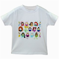 Disney Ladies Kids White T-Shirts