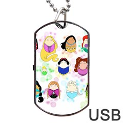 Disney Ladies Dog Tag USB Flash (Two Sides)
