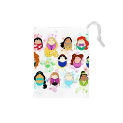 Disney Ladies Drawstring Pouches (Small)