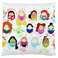 Disney Ladies Large Flano Cushion Cases (One Side)
