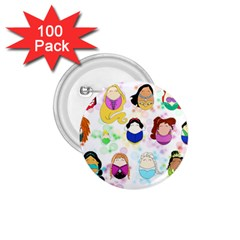 Disney Ladies 1.75  Buttons (100 pack)