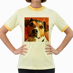 Jack Russell Terrier Women s Fitted Ringer T-Shirts