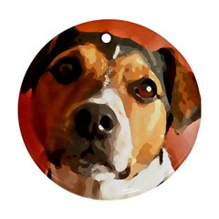 Jack Russell Terrier Round Ornament (Two Sides)